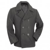 Cappotto Corto Pea Coat Nero