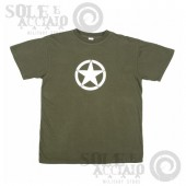 T-Shirt Oliva ARMY White Star