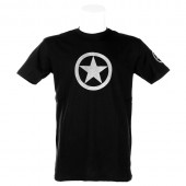 T-Shirt Nera ARMY White Star