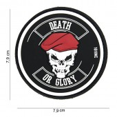 Toppa DEATH OR GLORY in PVC gommato con Velcro