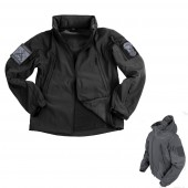 Soft Shell Tactical Jacket Nero